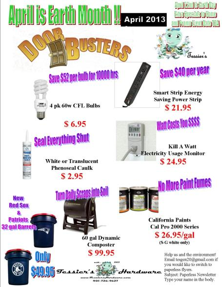 April 2013 Doorbusters