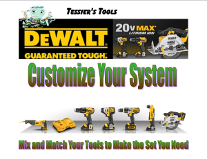 DeWalt 20v system